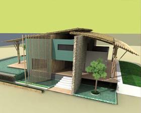 bamboo villas